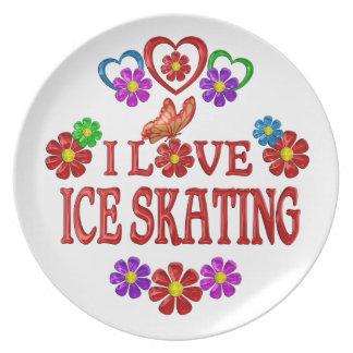 I Love Ice Skating Dinner Plate