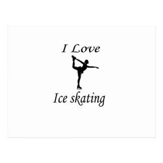 I Love Ice-skating Postcard