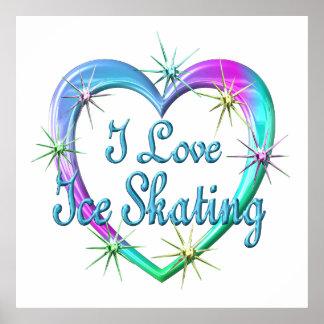 I Love Ice Skating Poster