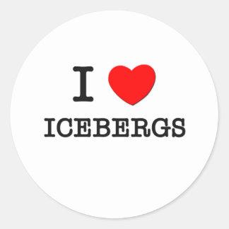 I Love Icebergs Classic Round Sticker