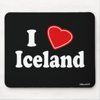 I Love Iceland Mouse Pad