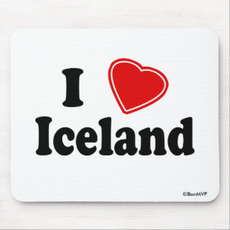 I Love Iceland Mouse Pads
