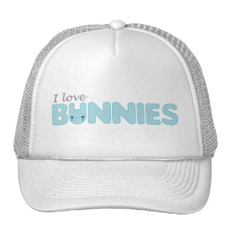 I Love Ickle Blue Bunnies Hat