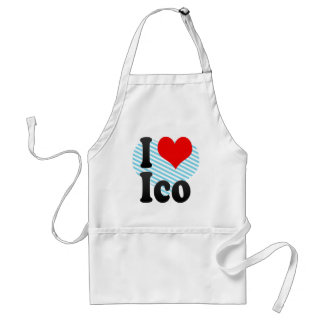 I Love Ico, Brazil. Eu Amo O Ico, Brazil Standard Apron