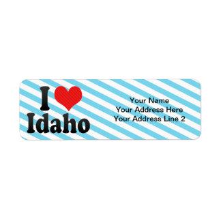 I Love  Idaho Return Address Label