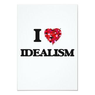 I Love Idealism 9 Cm X 13 Cm Invitation Card