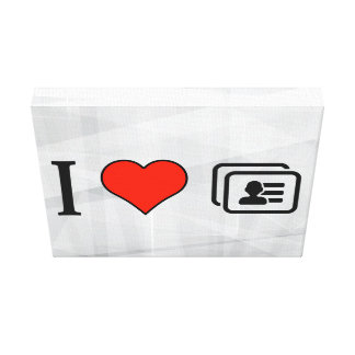 I Love Identification Cards Stretched Canvas Prints