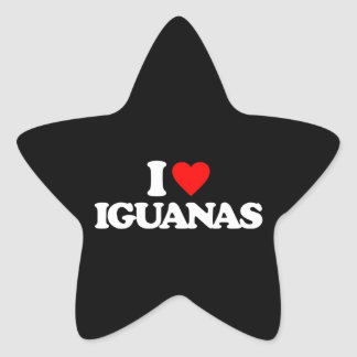 I LOVE IGUANAS STICKER