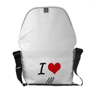 I love Ill Commuter Bag