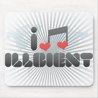 I Love Illbient Mouse Pad