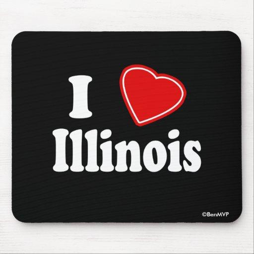 I Love Illinois Mousepads