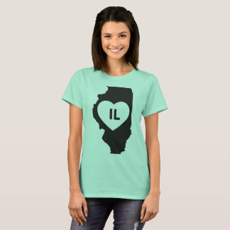 I Love Illinois State Women's Basic T-Shirt