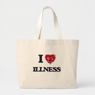 I Love Illness Jumbo Tote Bag