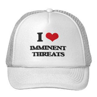 I Love Imminent Threats Mesh Hats