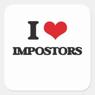 I Love Impostors Square Sticker