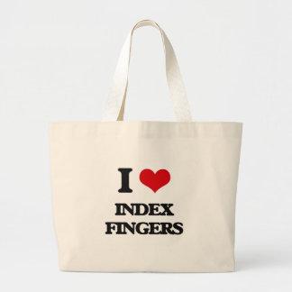 I Love Index Fingers Jumbo Tote Bag