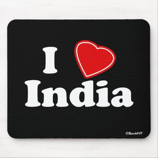 I Love India Mouse Pad