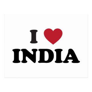 I Love India Postcard