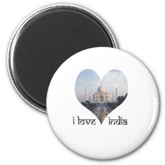 I Love India with Taj Mahal Magnet