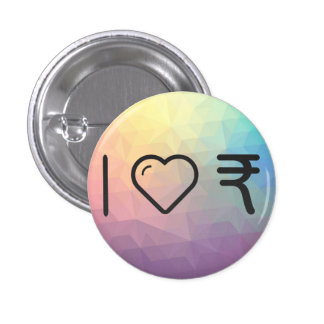 I Love Indian Currencys 3 Cm Round Badge