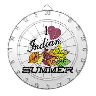 I Love Indian Summer Dartboard With Darts