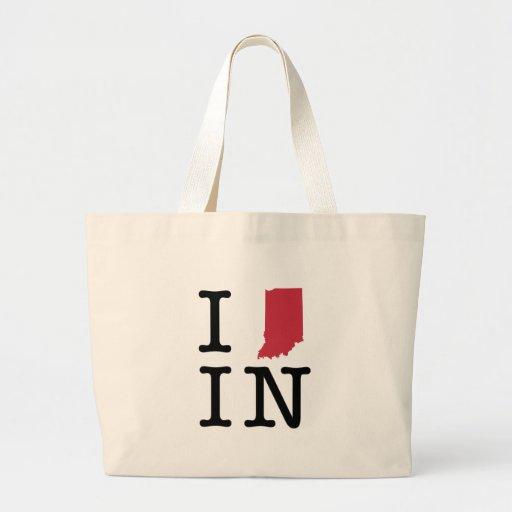 I Love Indiana Canvas Bag