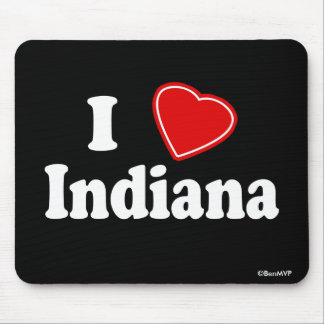 I Love Indiana Mouse Pads