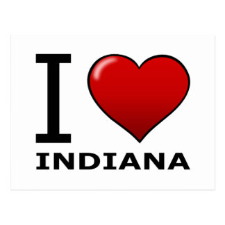 I LOVE INDIANA POSTCARD