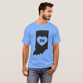 I Love Indiana State Men's Basic Dark T-Shirt