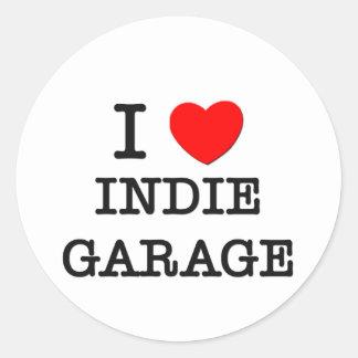 I Love Indie Garage Sticker