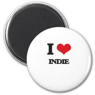 I Love INDIE Fridge Magnet