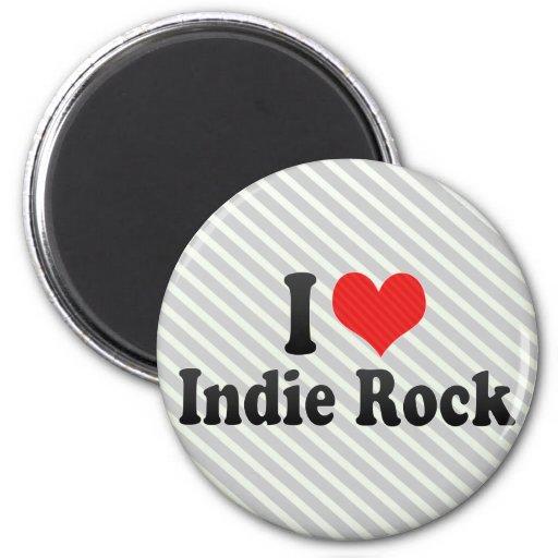 I Love Indie Rock Fridge Magnet