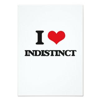 "I Love Indistinct 5"" X 7"" Invitation Card"