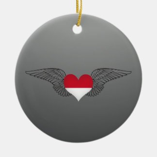 I Love Indonesia -wings Christmas Tree Ornaments