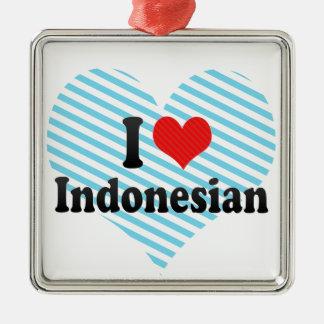 I Love Indonesian Christmas Ornament