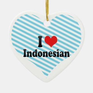 I Love Indonesian Christmas Tree Ornaments