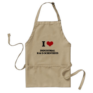 I love Industrial R & D Scientists Adult Apron