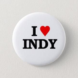 I love Indy 6 Cm Round Badge