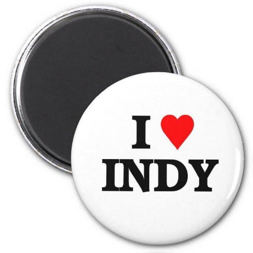 I love Indy Refrigerator Magnet