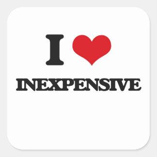 I Love Inexpensive Square Stickers