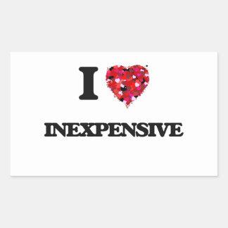 I Love Inexpensive Rectangular Sticker