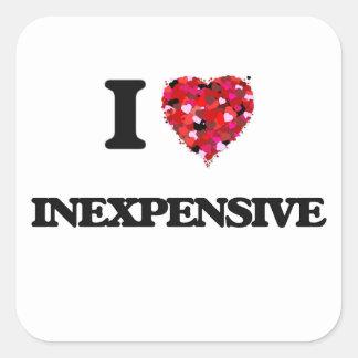 I Love Inexpensive Square Sticker