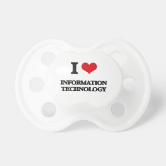 I Love Information Technology BooginHead Pacifier