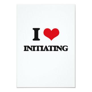 "I Love Initiating 3.5"" X 5"" Invitation Card"