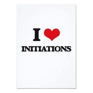 "I Love Initiations 3.5"" X 5"" Invitation Card"