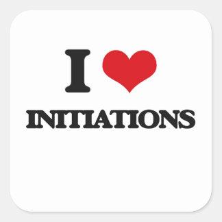 I Love Initiations Square Sticker