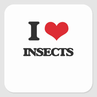 I love Insects Square Stickers