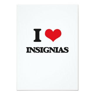 I Love Insignias 5x7 Paper Invitation Card