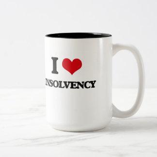 I Love Insolvency Two-Tone Coffee Mug