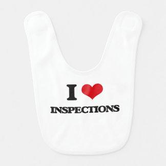I Love Inspections Baby Bib